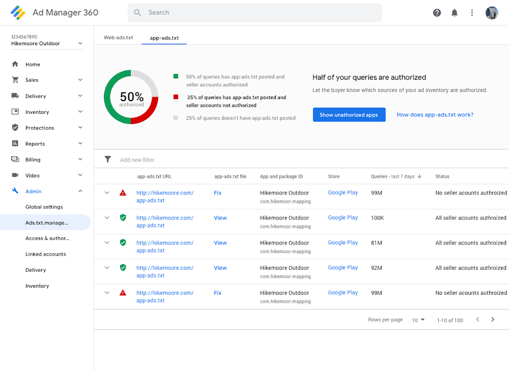 Google Ad Manager, AdMob add support for app-ads.txt, to start blocking unauthorized ad serving for publishers this month