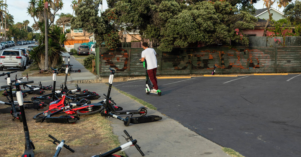 Welcome to San Diego. Don't Mind the Scooters.