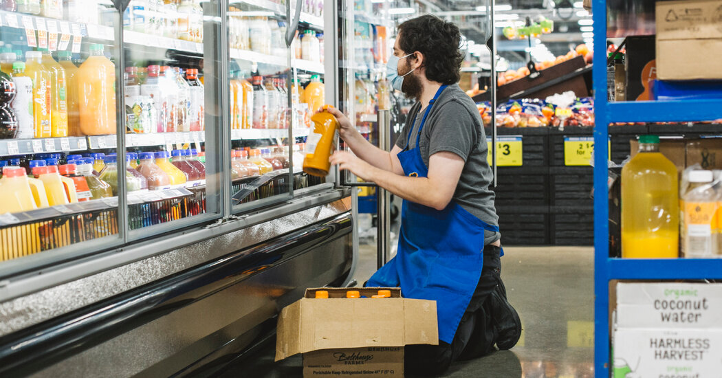 Virus Cases Rise, but Hazard Pay for Retail Workers Doesn't