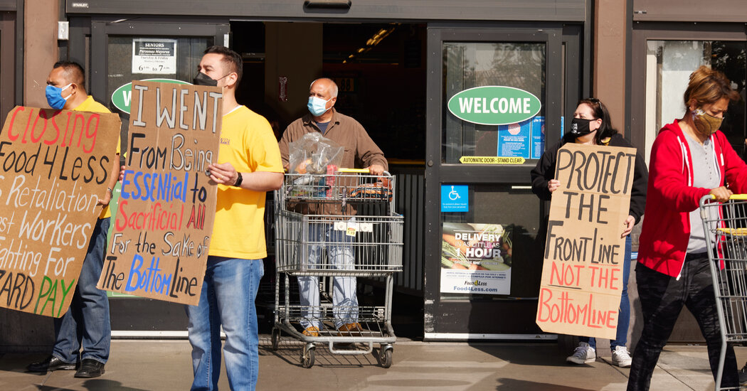 'We Are Forgotten': Grocery Workers Hope for Higher Pay and Vaccinations