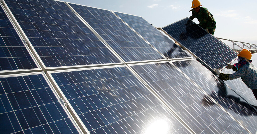 U.S. Bans Chinese Imports of Solar Panel Materials Tied to Forced Labor